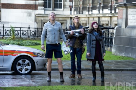 Thor - The Dark World - Kat Dennings e Stellan Skarsgård