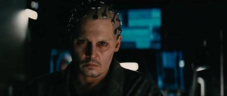 Transcendence - Johnny Depp truccato