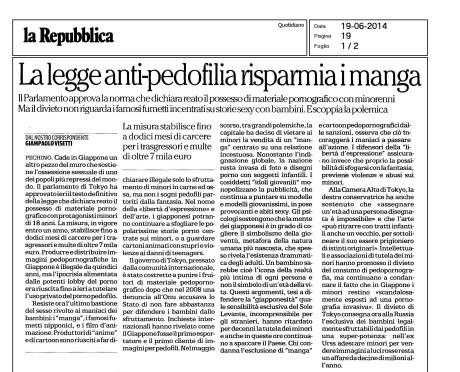 La Repubblica Pagina 1