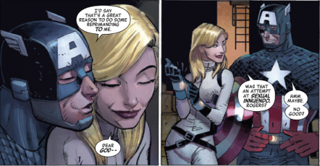 Captain Aemrica tuba con Sharon Carter