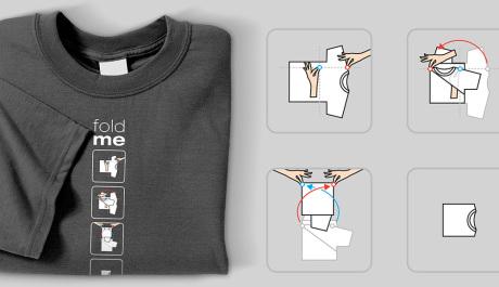Come piegare una maglietta