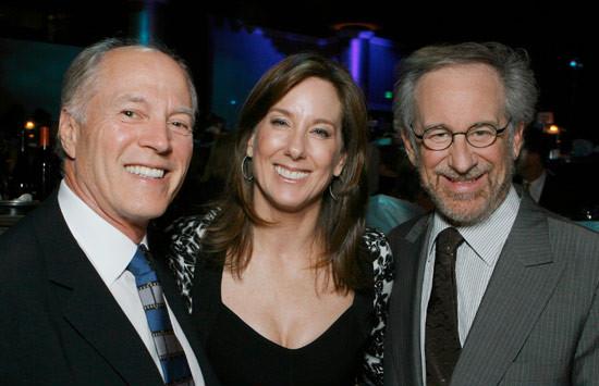 Frank Marshall, Kathleen Kennedy e Steven Spielberg