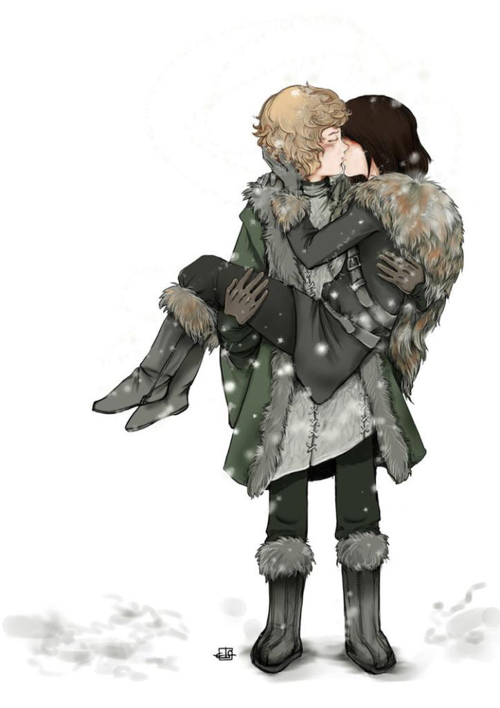 Jojen Reed e Bran Stark