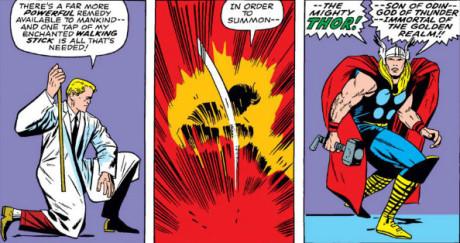 Donald Blake nei fumetti