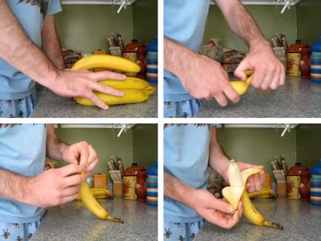Aprire una banana nel modo giusto