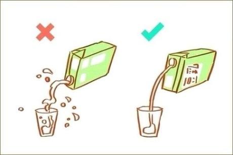 Versare il latte nel modo giusto