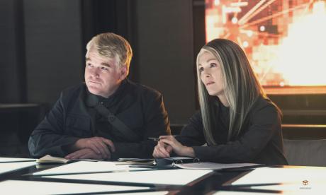 Hunger Games - Il Canto Della Rivolta - Pate I - Philip Seymour Hoffman e Julianne Moore