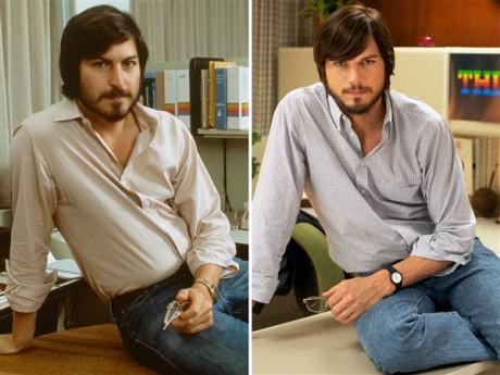 Steve Jobs - Ashton Kutcher e Steve Jobs